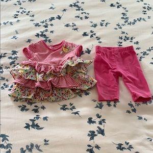 Pippa & Julie crop pants and 4-tiered top set